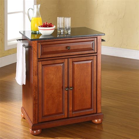 portable island for kitchen crosley alexandria solid black granite top portable kitchen island kitchen islands and carts