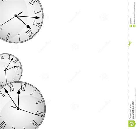 printable clock borders wall clock border frame stock illustration illustration