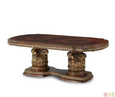 villa valencia rectangular dining table by michael amini michael amini villa valencia rectangular chestnut dining