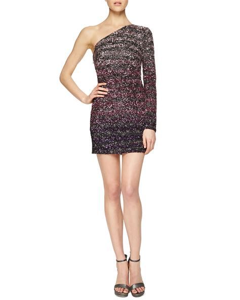 beaded mini dress lhuillier ombre beaded mini dress lyst