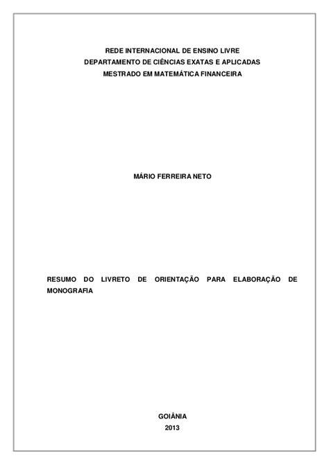 Resumo do livreto mestrado em matemática financeira - 3-2013