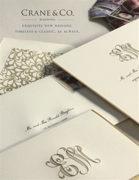 Crane Wedding Invitations new wedding invitations from crane co sweet paper