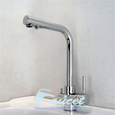 Water Faucets Kitchen - water filter tri flow kitchen faucet contemporary