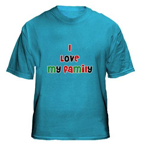 Simple T Shirt Kaos Dual Color Pink Hijau Tentara Import Murah i my family collections t shirts design