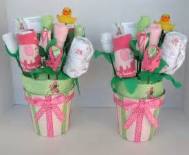 Baby blossom bouquets for twin girls unique by babyblossomco