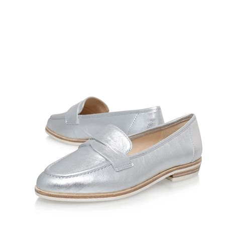 flat loafers nine west antonecia flat loafers in metallic lyst