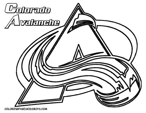 nhl hockey coloring pages coloring home