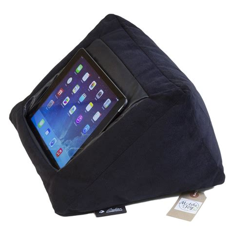 ipad pillow for bed icushion ipad cushion pillow stand holder velvet black