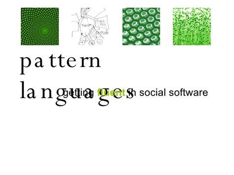 pattern language software intranet pattern languages