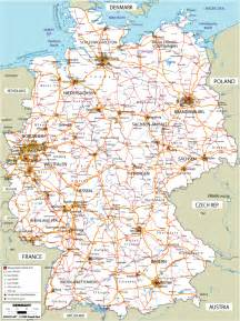 Road Map Of Germany by Large Road Map Of Germany
