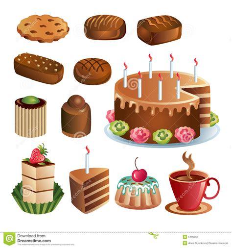 clipart dolci insieme dei dolci e delle torte cioccolato
