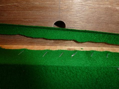 nottingham club snooker table bed cloth re stretched
