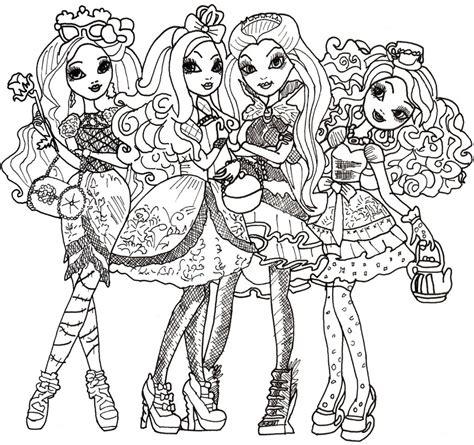 ever after high dolls coloring pages desenhos ever after high colorir
