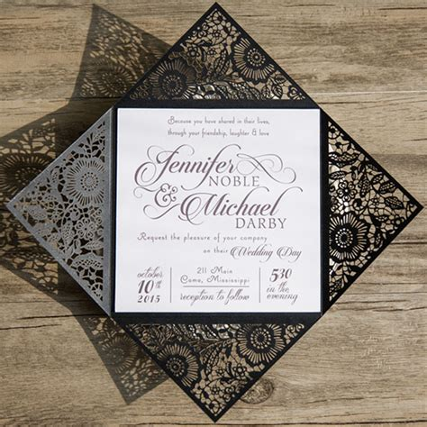 Wedding Invitations Black by Shop Black And White Wedding Invitations