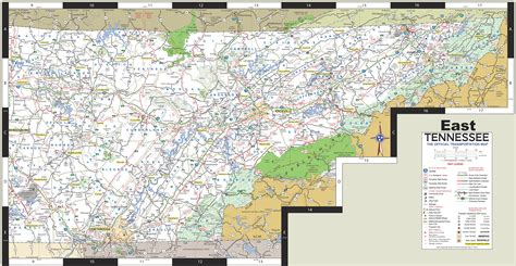 east tennessee map map of east tn my