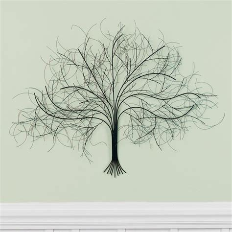 wire tree wall hanging home decor black tree metal wall art at signals hh5624