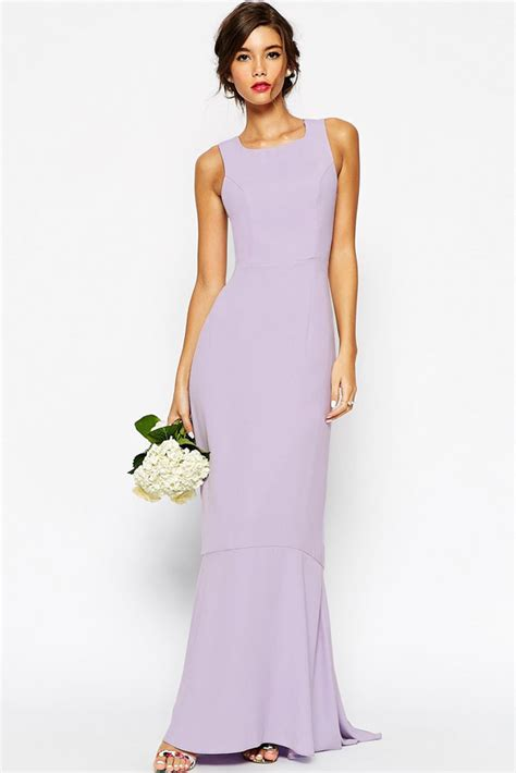Dress Maxi Purple Elegan 2015 summer light purple fishtail wedding maxi dress free shipping yx60199