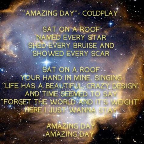 coldplay amazing day lyric amazing day coldplay lyrics pinterest coldplay and