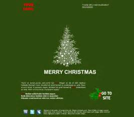 Email template greeting happy holidays tree christmas green