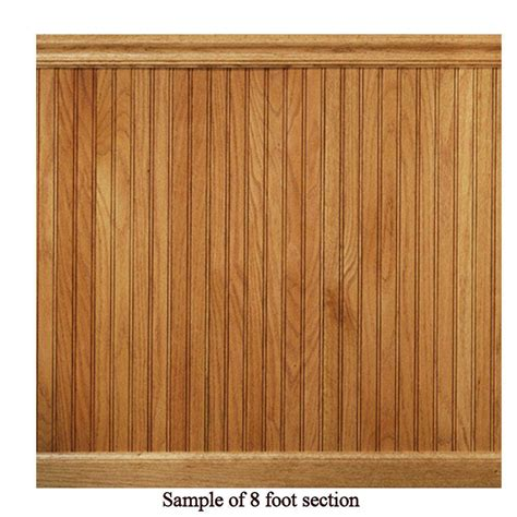 House Of Fara Wainscot house of fara 8 ft oak tongue and groove wainscot paneling 32okit the home depot