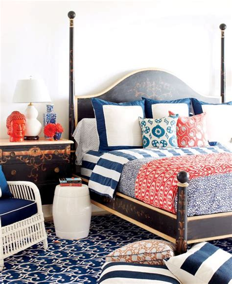 navy blue and coral bedroom pretty living navy coral get your pretty on
