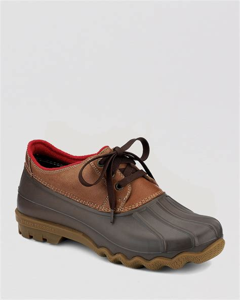 duck shoes for sperry top sider avenue 3 eye waterproof duck shoes in