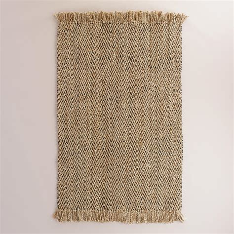 herringbone area rug charcoal herringbone woven jute area rug world market