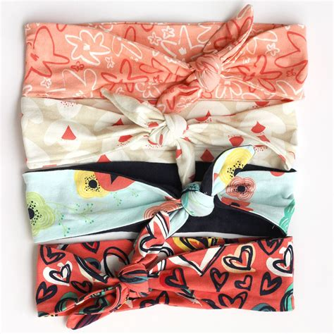 pattern for sewing headbands knit headband free pattern tutorial sewcaroline com