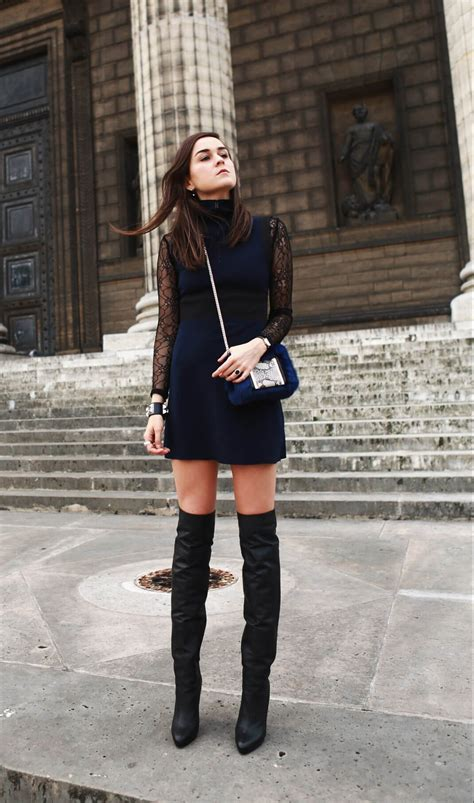 dress with boots andy torres creative style of wearing knee high boots
