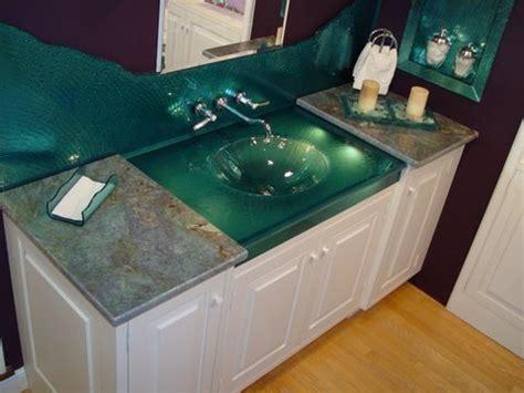 glass top sink vanity custom glass one sink vanity top backsplash