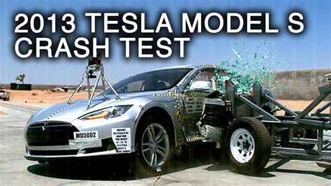 Tesla Model S Crash Test 2013 Tesla Model S Side Crash Test By Nhtsa Crashnet1