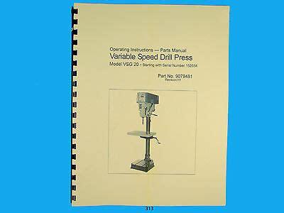 Powermatic Model 1285 12 Quot Jointer Instruction Amp Parts