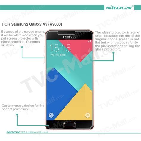 Tempered Glass Nillkin Samsung Galaxy A9 A9 Pro Amazing H Pro nillkin amazing h pro tempered glass screen guard for samsung galaxy a9 2016 anti explosion