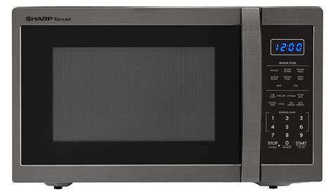 Microwave Oven Merk Sharp smc1452ch 1 4 cu ft black stainless steel microwave