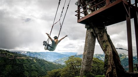 swing in ecuador swing on the edge of the world casa arbol in banos