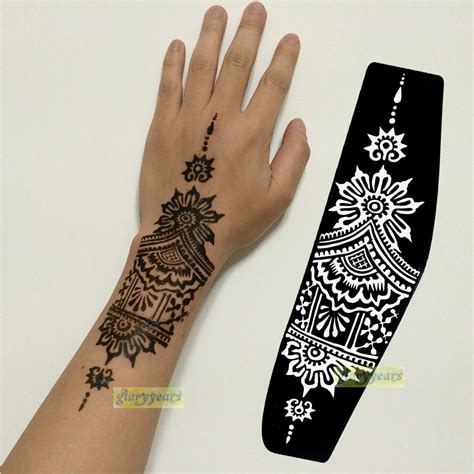 large henna tattoo aliexpress buy 1pc large mehndi henna glitter