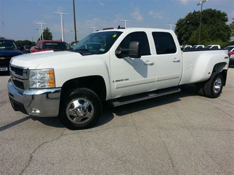 2008 chevrolet silverado 3500 for sale used cars for sale buy used 2008 chevy silverado 3500 crew cab ltz dually turbo diesel 4wd like new in lewisville