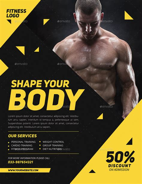fitness flyer modern fitness flyer by guuver graphicriver