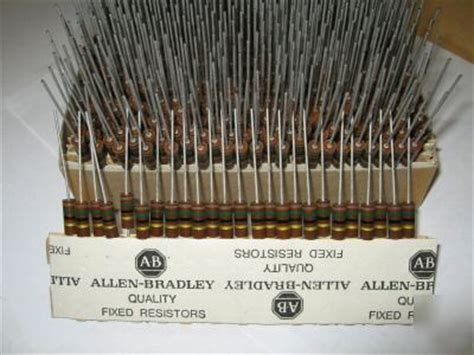 allen bradley resistors 1000 pcs allen bradley 1w 5 carbon comp resistors