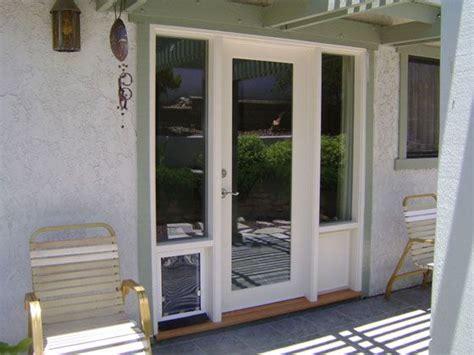 patio doors with built in pet door doors with doggie door built in wood doors