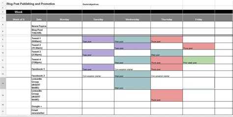 pr calendar template the best content and social media calendar templates