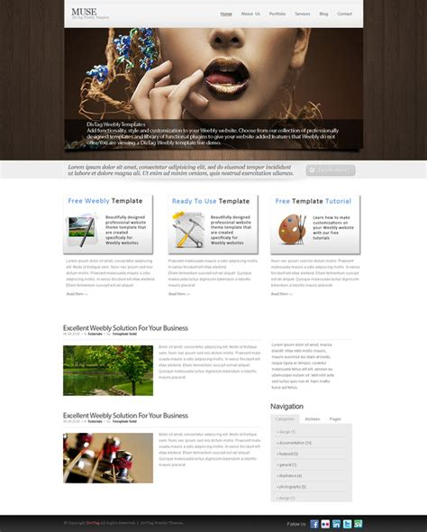 weebly themes weebly templates muse theme divtag