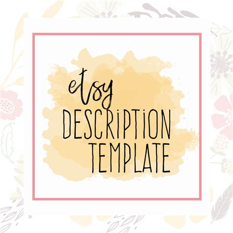 etsy policies template etsy description template etsy product template etsy help