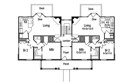 fourplex floor plans fourplex house plans house design plans
