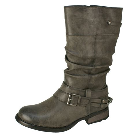 womans grey boots rieker 97258 45 s grey boots free delivery at