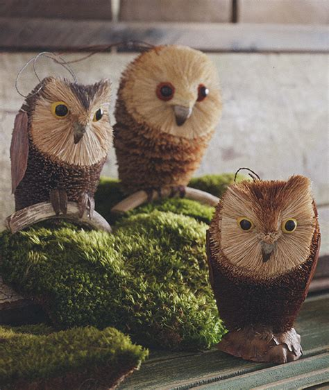 Tree Owl 3 by 3 Pc Owl Tree Decorations Ornaments Nova68