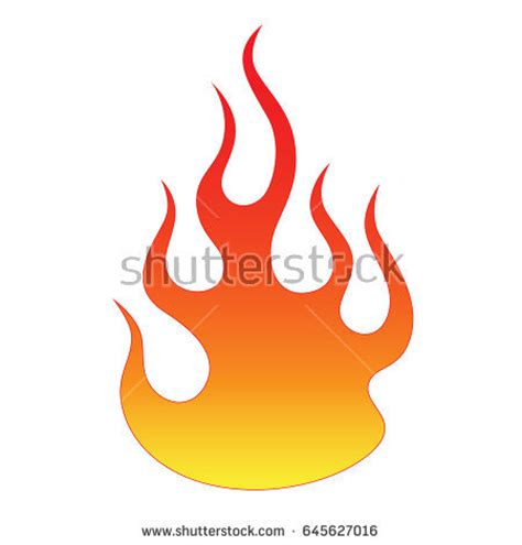 flame vector fire colored tribal flames stock vector