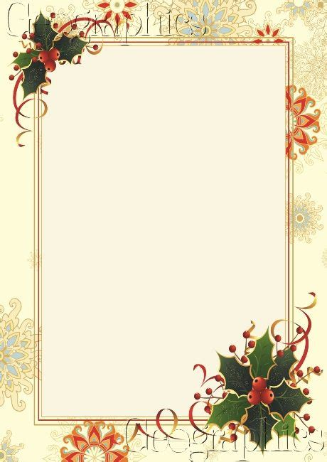 images of christmas letterhead snowflake holly gold foil christmas letterhead
