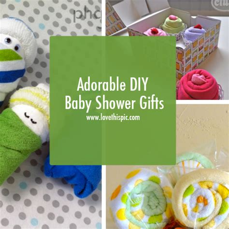Diy Baby Shower Gifts by Adorable Diy Baby Shower Gifts