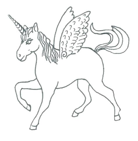 Coloring Page Unicorn With Wings by Coloring Pictures Of Unicorns Rainbow Unicorn Page